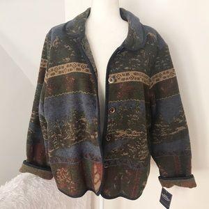 Sonoma Wool Blend Mountain Theme Jacket NWT ✨